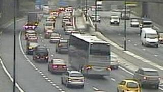 Congestion on M4 near Newport