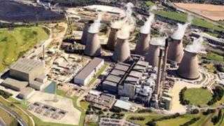 Ferrybridge coal fired power station