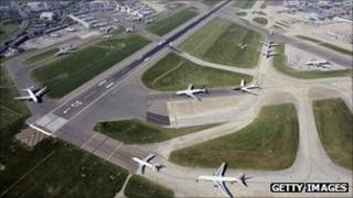 Runways at Heathrow Airport