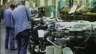 Perkins Engines factory interior, 1990