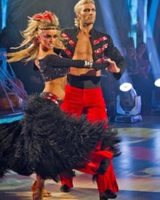 Robbie Savage and Ola Jordan in Strictly Come Dancing 2011