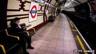 Waiting for a Tube train