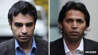 Salman Butt (left) and Mohammad Asif