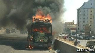 The bus fire in Mecca in which two Britons died