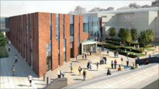Artist's impression of new Carlisle College campus at Victoria Place