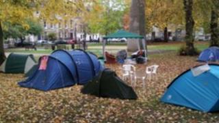 Occupy Bath protest