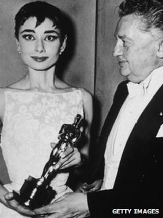 Audrey Hepburn and Jean Hersholt