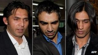 Mohammad Asif, Salman Butt and Mohammad Amir
