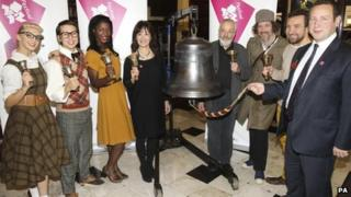 Arlene Phillips and Mike Leigh (centre couple) at launch of the London 2012 festival.