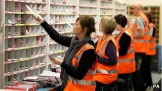 Postal workers in Glasgow