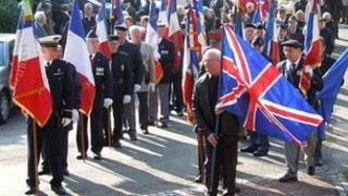 Ceremony for Herbert Spiller at Nant-le-Grand in northern France