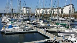 Clyde Marina in Ardrossan in Ayrshire