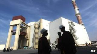 File picture of the reactor building at the Russian-built Bushehr nuclear power plant in southern Iran