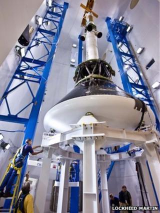 Orion in development (Lockheed Martin)