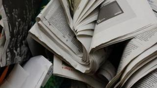 generic newspaper recycling