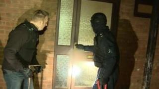Police executing a warrant