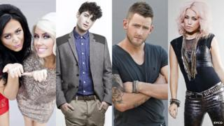 The four X Factor finalists were were kicked off the show by their mentors. L-R: 2 Shoes, James Michael, Jonjo Kerr and Amelia Lily