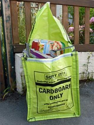 Cardboard recycling bag