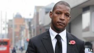 Titus Bramble outside Teesside Magistrates Court