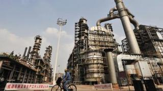 An oil refinery of China's Sinopec in Wuhan