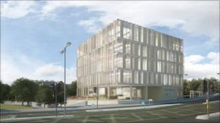 An artist's impression of the Innovation Cube.