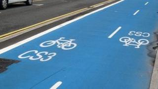A cycling superhighway in London