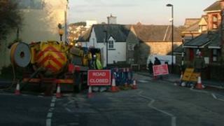 Sewer repairs in Camelford in 2011
