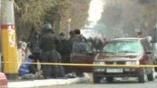 Police at the scene of some of the killings