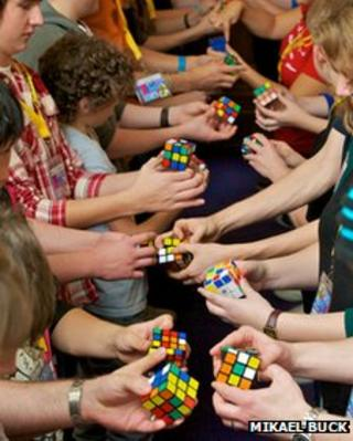 'Cubers' competing at the Rubik's UK Open in Bristol