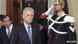 Italian PM Mario Monti in Rome, Italy (13 Nov 2011)