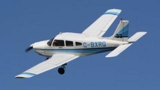 Crashed Alderney aircraft