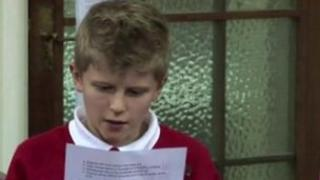 Joe Smith reads out his manifesto