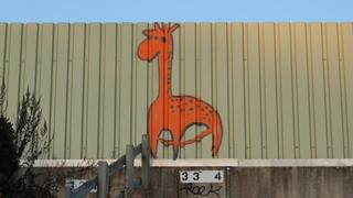 Giraffe graffiti by Wash Common, Newbury