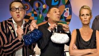 Shooting Stars regulars Vic Reeves, Bob Mortimer and Ulrika Jonsson