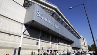 The Tottenham Stadium.