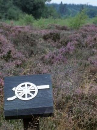 A sign at Culloden Battlefield. Pic: Battlefield Britain: Culloden