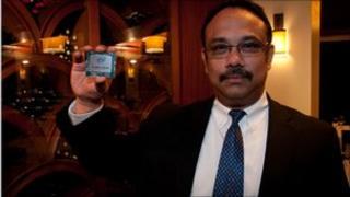 Rajeeb Hazra with Knights Corner chip