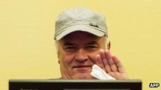 Ratko Mladic in court in July