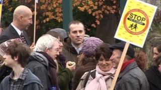 Teachers from Prince Henry's Grammar School on strike