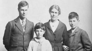 Violet Slater and her sons, Owen, Patrick and Eliot PHOTO COURTESY: Margaret Bonfiglioli