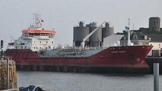 Sarnia Cherie tanker in St Sampson's Harbour