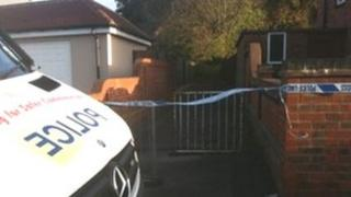 Police tape in Leigh Park estate