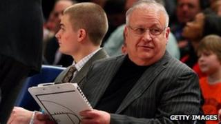 Assistant coach Bernie Fine at a game against UCONN 12 March 2009 at Madison Square Garden