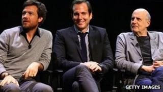 Arrested Development stars Jason Bateman, Will Arnett and Jeffrey Tambor