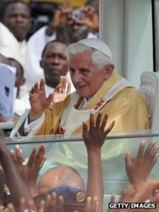 Pope in Cotonou