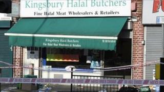 Scene of stabbing in Kingsbury