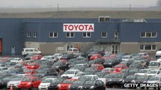 Toyota factory parking lot