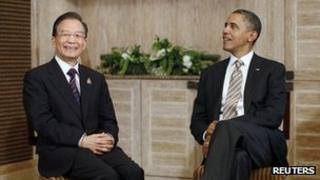 Chinese Premier Wen Jiabao and US president Barack Obama holds talks in Bali on 19 November 2011