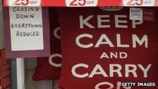 'Keep calm and carry on' cushion reduced in sales