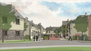 Artist's impression of the planned development at Waterton